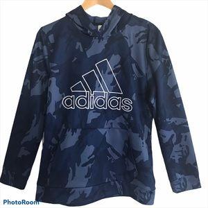 Adidas Boys Core Camo Hooded Pullover